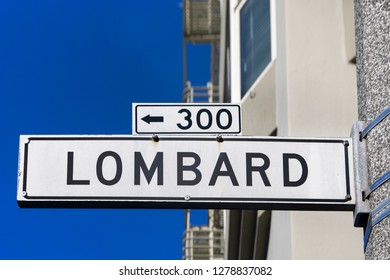 Lombard Street sign in San Francisco