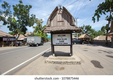 """LOMBOK, INDONESIA: 5 JUNE 2016. Cultural Village """" Desa SADE"""" in Lombok , Indonesia. People and lifestyle. Very old traditional cultural village."""