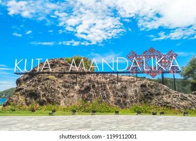 LOMBOK INDONESIA, APRIL 4 2018 : An icon of Kuta Mandalika Beach