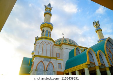 LOMBOK INDONESIA AUGUST 10 2018 : Islami Center Lombok is a big Mosque in Mataram
