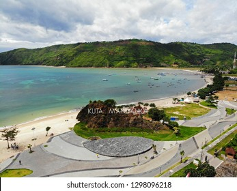 LOMBOK, INDONESIA - JANUARY 27, 2019 : KUTA MANDALIKA BEACH IS ONE OF BEAUTIUL BEACH IN LOMBOK.