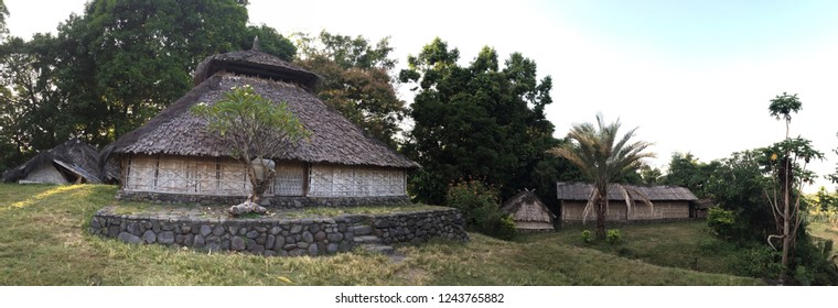 Lombok Island Traditional House in West Nusa Tenggara, Indonesia