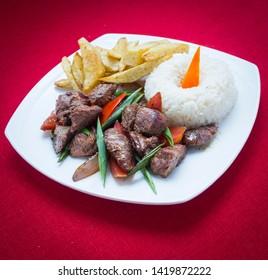 Lomo Saltado, delicious dish of typical food of Peru