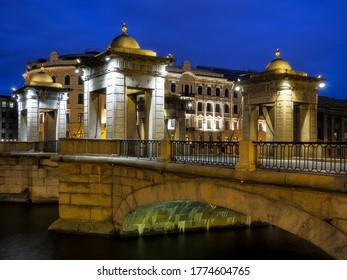 Lomonosov Bridge across the Fontanka River in the Saint Petersburg