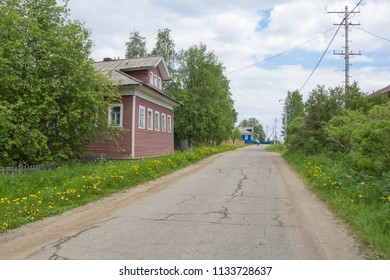 Lomonosovo village. Russia, Arkhangelsk region, Kholmogory district