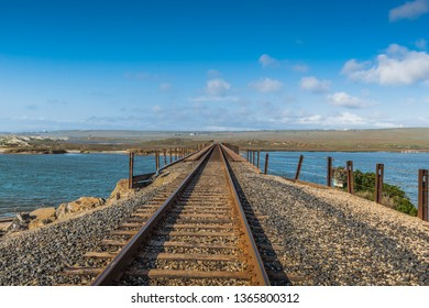 LOMPOC - Train tracks at California State Route 1 - Pacific Cost Highway