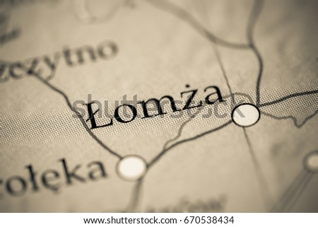 Lomza Poland Map.Lomza Poland Stock Photo Edit Now 670538434 Shutterstock