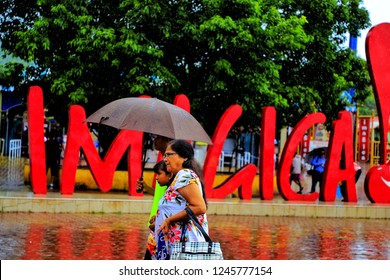 Lonavala, Maharashtra - August 11, 2018: Imagica is an adventure park situated near Lonavala in Maharashtra consisting of Theme and Water park which includes rides and fun.