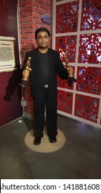 Lonavala, Maharashtra India - June 3rd 2019:  A R Rahman - famous Indian music director in wax museum