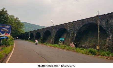 Lonavala, Maharashtra / India - Sept 29 2018: Road next Lonavala Dam