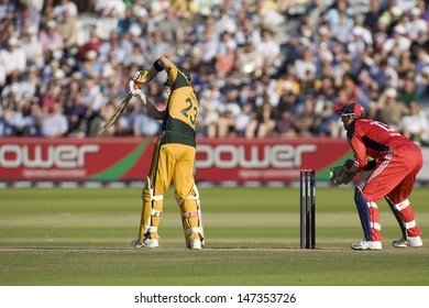 LONDON - 12 SEPT 2009; London England: Australia team player Michael Clarke and England team wicketkeeper during the Nat West, 4th one day international cricket match  held at Lords Cricket ground