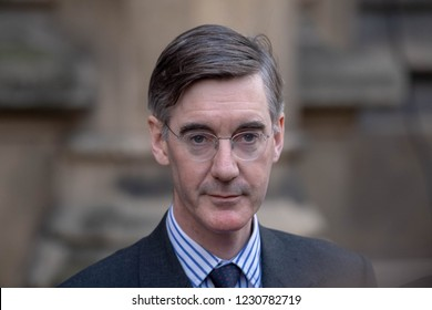 London 15th November 2018 Jacob-Rees Mogg holds a press conference following the submission of his no confidence in the Prime Minister letter Credit Ian Davidson/Alamy Live News