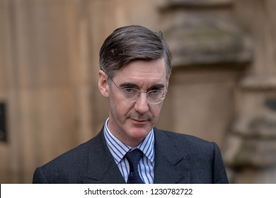 London 15th November 2018 Jacob-Rees Mogg holds a press conference following the submission of his no confidence in the Prime Minister letter