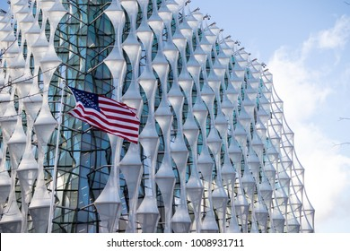 London, 18th January 2018:- The Embassy of the United States of America, located at 33 Nine Elms Lane, having moved from 24 Grosvenor Square.