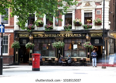LONDON - 2011 JUNE 19: At exterior of pub, for drinking and socializing, focal point of the community, London, UK. Pub business, now about 53, 500 pubs in the UK, has been declining every year