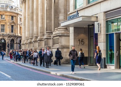 London. 21 May 2019. A view of Wework offices in Bishopsgate in the City of London in London