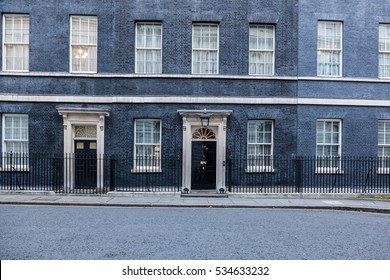 London, 28 November 2016. The building of 10 Downing Street in London, the residence of Prime Minister of the United Kingdom.