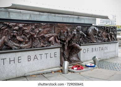 London, 28th September 2017:-Memorial to the Battle of Britain pilots from Fighter Command of World War 2