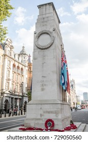 London, 28th September 2017:-The Cenotaph, Whitehall. Now designated the United Kingdom's official national war memorial.