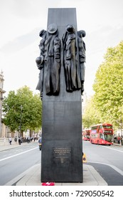 London, 28th September 2017:-The Women of World War 2 Memorial, Whitehall