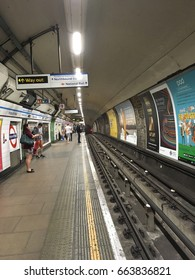 London 3 JUNE,2017 - London Underground station interior.The system serves 270 stations, 402 kilometers of track with operation history of 150 years