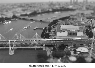 London from above  Photoshop tilt shift and landscape photography