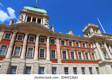 London Admiralty House. One of Whitehall government buildings in London UK.