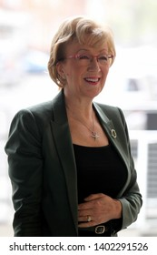 LONDON - APR 07, 2019: Andrea Leadsom Leader of the House of Commons arrives at the BBC studios