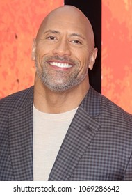LONDON - APR 11, 2018:  Dwayne Johnson attends the Rampage film premiere at the Cineworld, Leicester Square