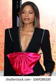 LONDON - APR 11, 2018: Naomie Harris attends the Rampage film premiere at the Cineworld, Leicester Square