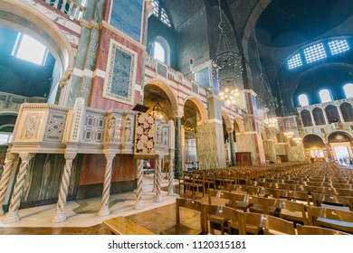 London, APR 14: Interior view of the Westminster Cathedral on APR 14, 2018 at London, United Kingdom