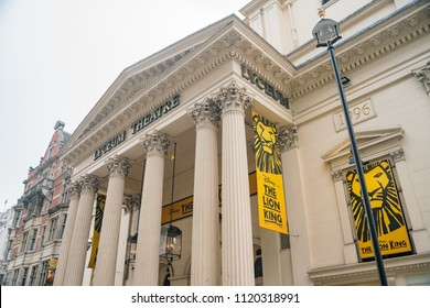 London, APR 15: Exterior view of the Lyceum Theatre on APR 15, 2018 at London, United Kingdom