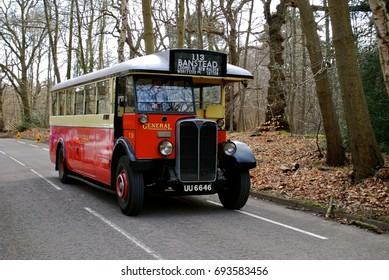 LONDON - APRIL 10: Classic London buses at the annual Cobham Bus Museum Gathering April 10, 2017 in London