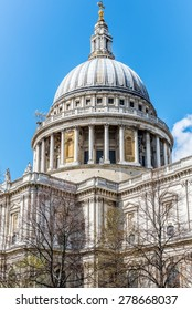 LONDON - APRIL 11: Saint Paul's cathedral on April 11, 2015 in London, UK. It's an Anglican cathedral, the seat of the Bishop of London and the mother church of the Diocese of London.
