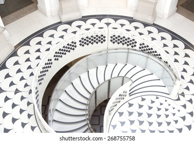 LONDON - April 12 : Tate Britain Spiral Staircase in London on April 12, 2015 for Editoral Use only
