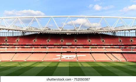 LONDON APRIL 19: The Emirates stadium on April 19th, 2017 in London, UK
