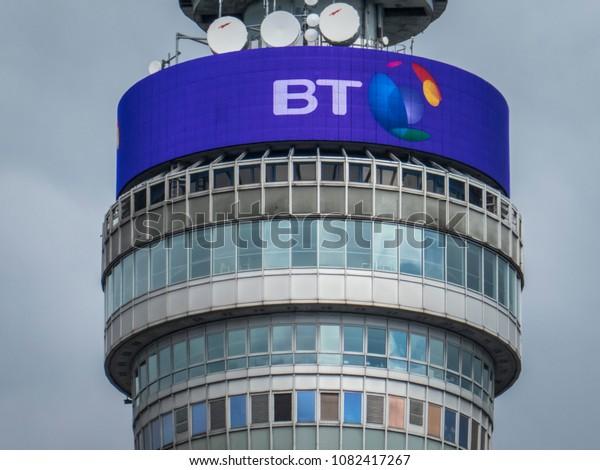 London April 2018 Bt Tower Building Stock Photo (Edit Now