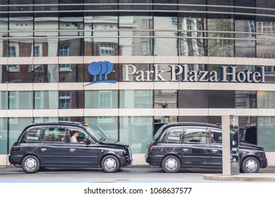 LONDON- APRIL, 2018: Exterior of the Park Plaza London Waterloo hotel close to Westminster Bridge in Lambeth