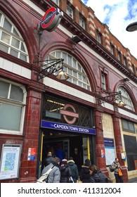 LONDON - APRIL 25: Camden Town Underground Station on April 25, 2016 in London, UK.