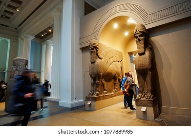 LONDON - APRIL 26: Inside view of British Museum on April 26, 2017, London, UK. Museum's Collections comprise 8 million items, dedicated to human history and culture, from all continents.