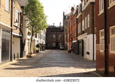 London, April 8th, 2017 - Marylebone in the west end still has many of its cobbled mews streets and houses preserved.