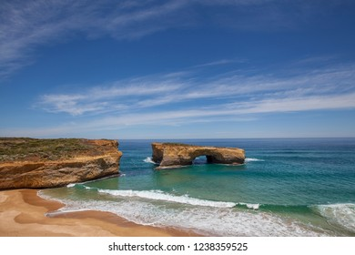 London Arch at Port Campbell National Park on the great ocean road in Victoria, Australia