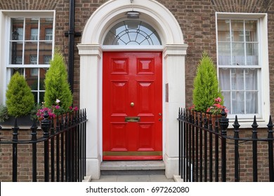 London architecture style, UK - beautiful Georgian front door.