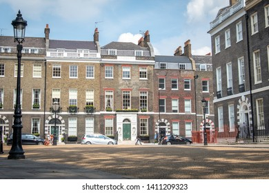 London- attractive Georgian townhouses in Bloomsbury