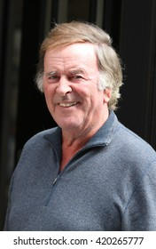 LONDON - AUG 11, 2013: Sir Terry Wogan seen arriving at the BBC radio two studios on Aug 11, 2013 in London