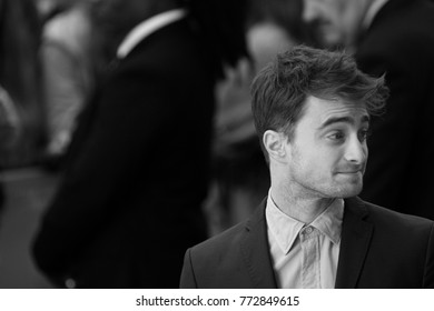 LONDON - AUG 12, 2014: Daniel Radcliffe attends the UK Premiere of What if at the Odeon West End in London