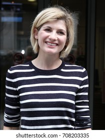 LONDON - AUG 12, 2017: Jodie Whittaker seen at the BBC radio two studios in London