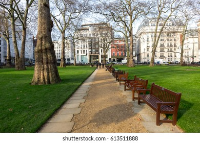 LONDON - AUGUST 11, 2016 Berkeley Square Garden