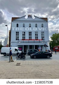 LONDON - AUGUST 17, 2018: Exterior view of The Old Vic Theatre in Waterloo, Lambeth, London, UK.