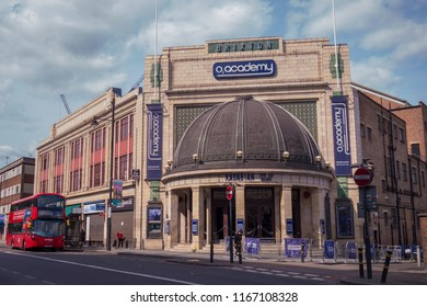 LONDON- AUGUST, 2018: Exterior of O2 Academy Brixton, a leading London music venue near the centre of Brixton, south west London